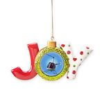 Helicopter Flying Aviator Joy Ornament