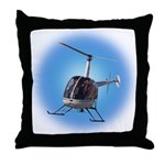 Helicopter Flying Aviator Throw Pillow