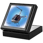 Helicopter Flying Aviator Keepsake Box