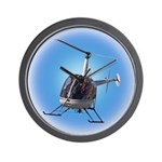 Helicopter Flying Aviator Wall Clock