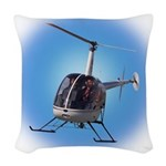 Helicopter Flying Aviator Woven Throw Pillow