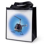 Helicopter Flying Aviato Reusable Grocery Tote Bag