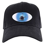 Helicopter Flying Aviator Black Cap with Patch