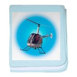 Helicopter Flying Aviator baby blanket