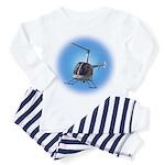 Helicopter Flying Aviator Toddler Pajamas