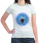 Helicopter Flying Aviator Jr. Ringer T-Shirt