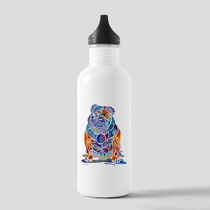 Whimsical English Bulldog Stainless Water Bottle 1