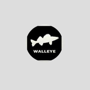 Walleye. Just Walleye Mini Button
