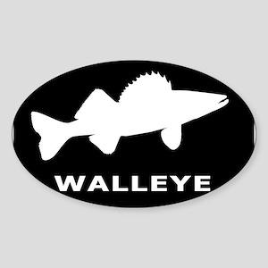 Walleye. Just Walleye Sticker (Oval)