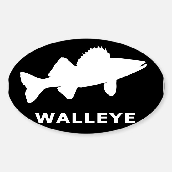 Walleye. Just Walleye Sticker (Oval)