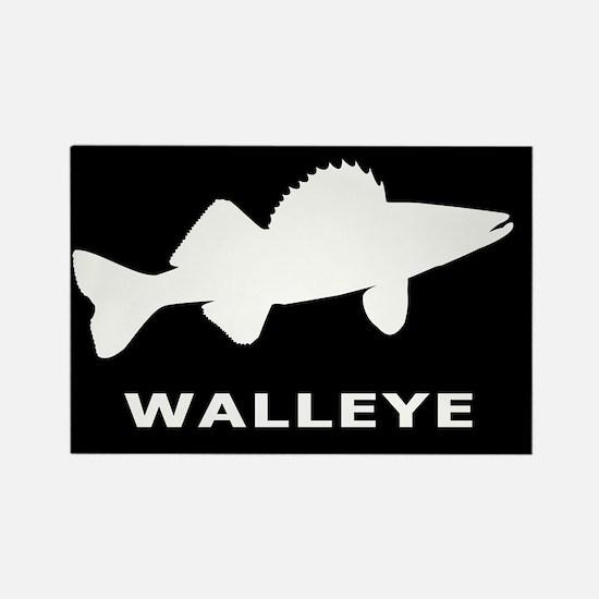 Walleye. Just Walleye Rectangle Magnet