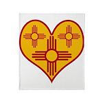 New Mexico Zia Heart Throw Blanket