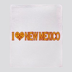 I Love New Mexico Throw Blanket