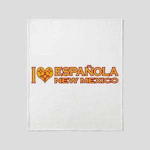 I Love Espanola, NM Throw Blanket