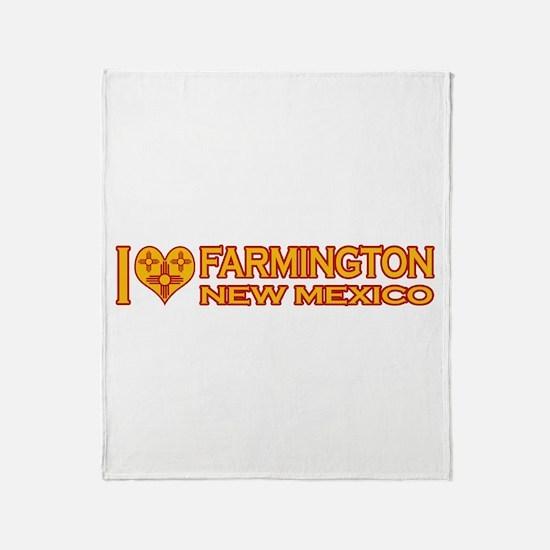 I Love Farmington, NM Throw Blanket