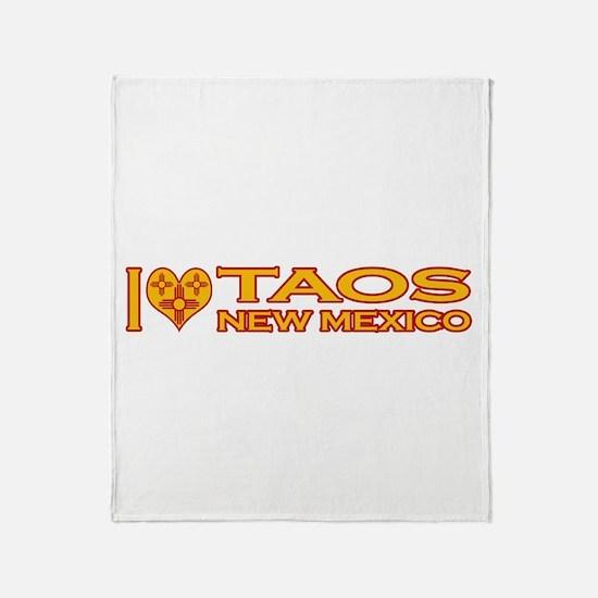 I Love Taos, NM Throw Blanket