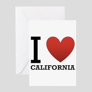 I Love California Greeting Card