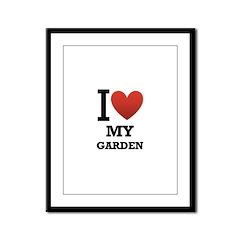 I <3 My Garden Framed Panel Print