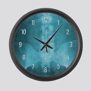 Blue Digital X-Ray Art Large Wall Clock