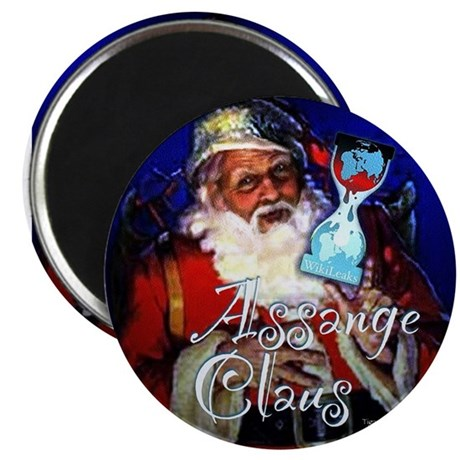 "Assange Claus 2.25"" Magnet (100 pack)"