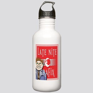 LNG logo & Jack the Late Nite Stainless Water Bott