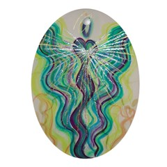 Angel Of The World Oval Ornament