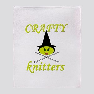 crafty knitter (witch) Throw Blanket