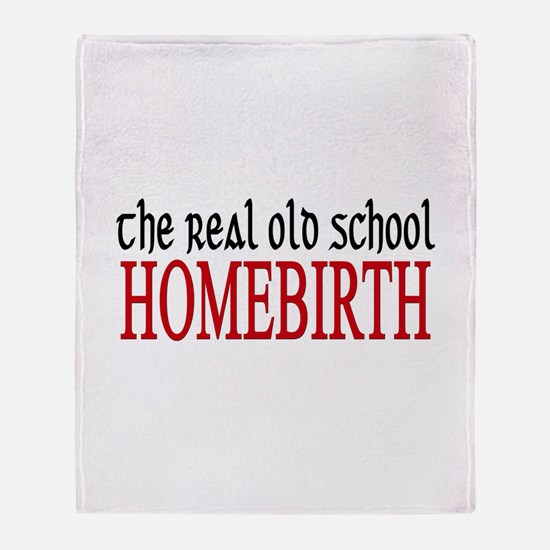 old school home birth Throw Blanket