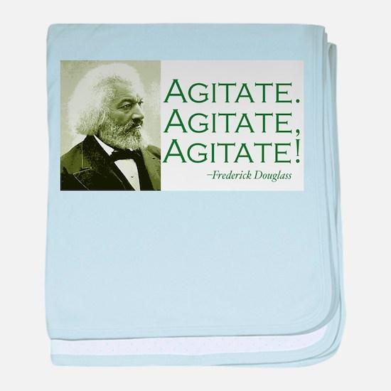 "Frederick Douglass ""Agitate!"" baby blanket"