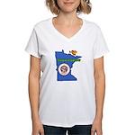 ILY Minnesota Women's V-Neck T-Shirt
