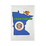 ILY Minnesota Rectangle Magnet (100 pack)