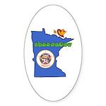 ILY Minnesota Sticker (Oval 50 pk)