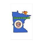 ILY Minnesota Sticker (Rectangle 10 pk)