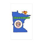 ILY Minnesota Sticker (Rectangle 50 pk)