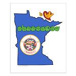 ILY Minnesota Small Poster