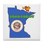 ILY Minnesota Tile Coaster
