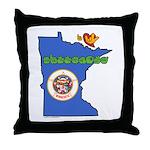 ILY Minnesota Throw Pillow