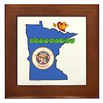 ILY Minnesota Framed Tile