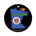 ILY Minnesota Ornament (Round)