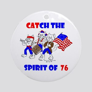 CAT-CH THE SPIRIT OF 76™ Ornament (Round)