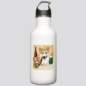 """Food Hound"" - Corgi Stainless Water Bottle 1.0L"