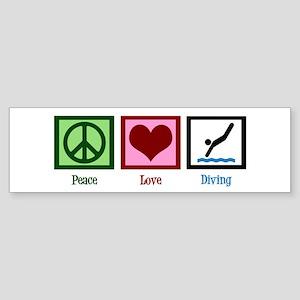 Peace Love Diving Sticker (Bumper)