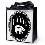 Tribal Bear Claw Reusable Grocery Tote Bag