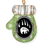 Tribal Bear Claw Mitten Ornament