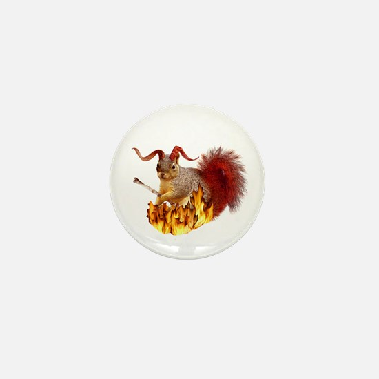 Krampus Squirrel Mini Button