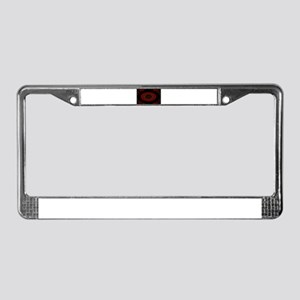 red eye License Plate Frame