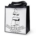 Vancouver Inukshuk Souvenir Reusable Grocery Tote