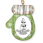 Vancouver Inukshuk Souvenir Mitten Ornament