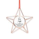 Vancouver Inukshuk Souvenir Copper Star Ornament