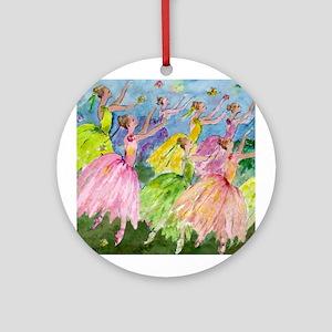 Nutcracker Dancers Ornament (Round)